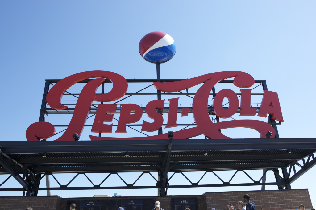 The Pepsi sign above the New York Mets Pepsi Porch.