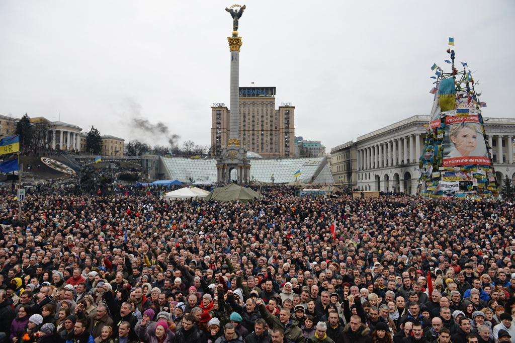 File: Anti-government demonstrators in Independence square Feb. 22, 2014 in Kiev, Ukraine.