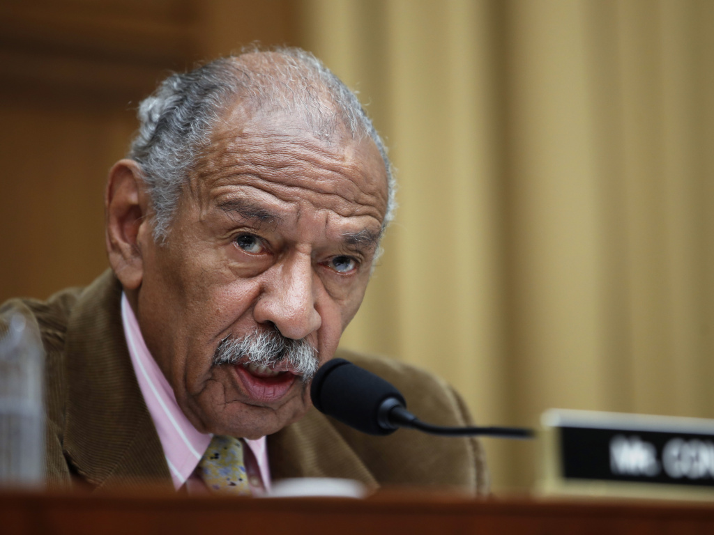 Rep. John Conyers, D-Mich., speaks during a House Judiciary hearing on April 4, 2017.