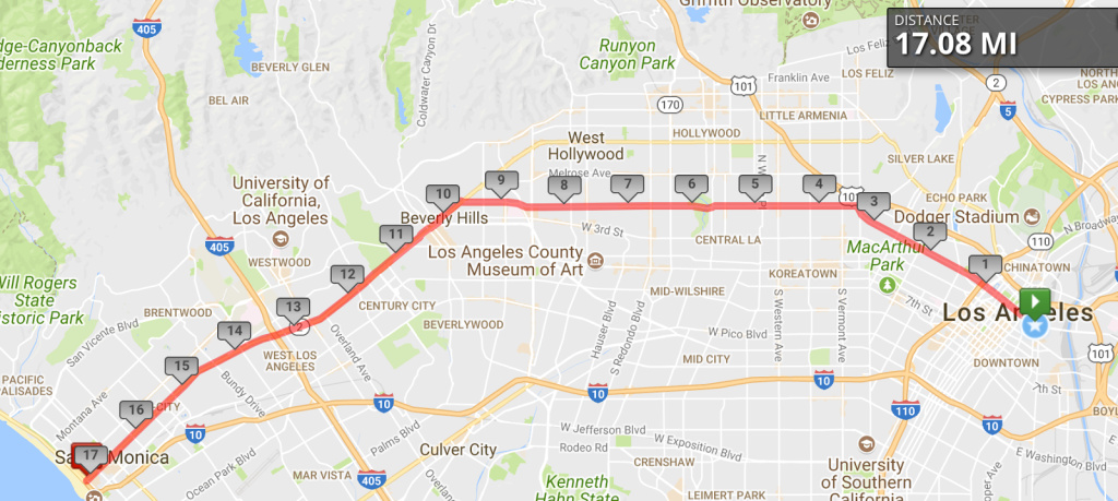 The 2017 Great LA Walk is largely along Beverly Blvd.