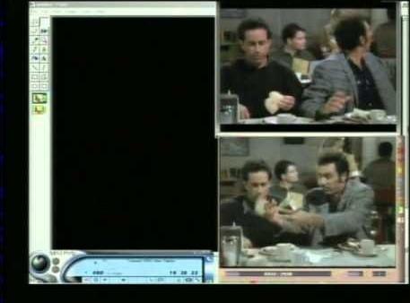 An example of how TBS speeds up 'Seinfeld' reruns.