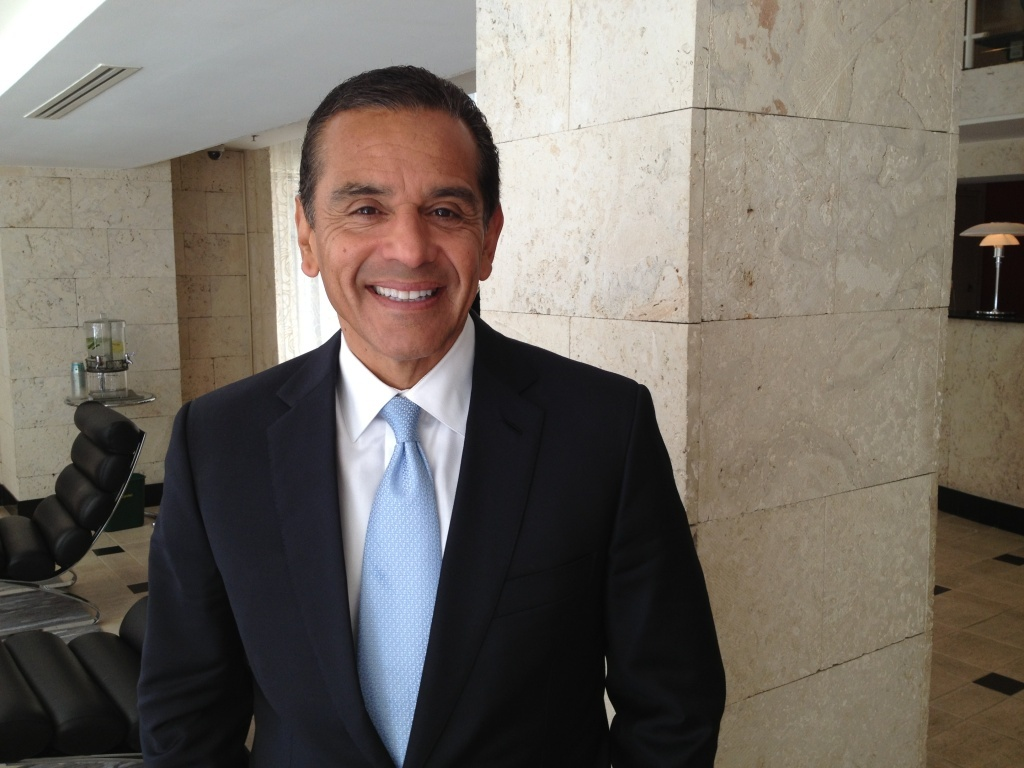 L.A. Mayor Antonio Villaraigosa is in Washington for what could be his final official visit to the nation's capitol.
