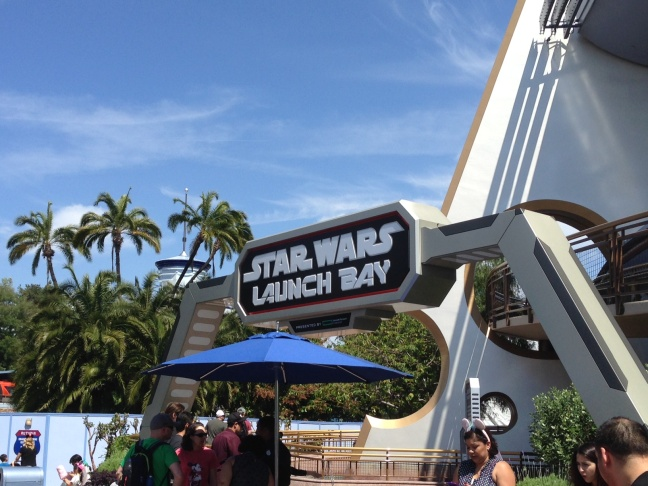 Alex Cohen, Chewbacca, and Walt Disney Imagineering's Scott Trowbridge.