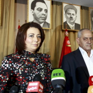 Tunisia's National Dialogue Quartet, seen here at a news conference in 2013, won the Nobel Peace Prize on Friday for its contribution to building democracy after the Jasmine Revolution in 2011.