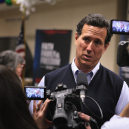 Santorum Rises In Polls As He Continues Iowa Campaign