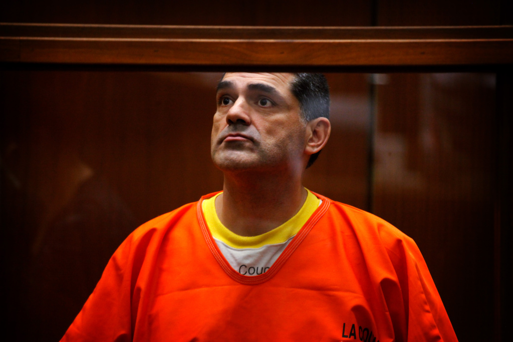 Los Angeles County Assessor John Noguez attends a bail hearing at the Criminal Courts Building on October 22, 2012 in Los Angeles, California. Noguez pleaded not guilty to a list of new charges on Monday, Oct. 28.