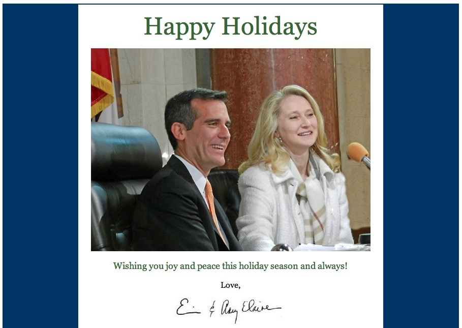 The unveiling of the annual political holiday card | 89.3 KPCC