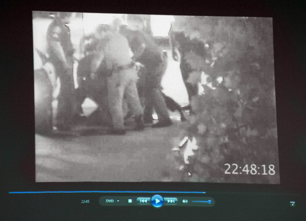 A surveillance video shows the July 5, 2011, altercation between Fullerton police and Kelly Thomas.