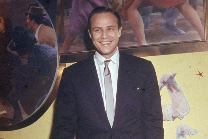 Marlon Brando Smiling In Suit
