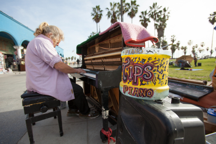 Venice Boardwalk Piano Player - 1