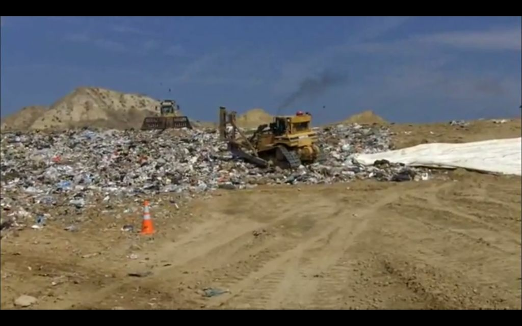 A landfill in The Riverside County Waste Management Department