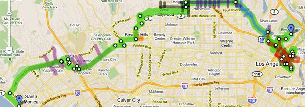 26th LA Marathon route and street closures