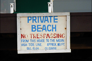 Eighty feet from this sign puts you in the water, a la Norman Maine in