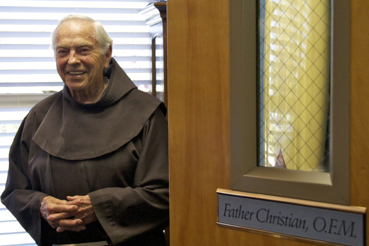 Christian Mondor, a retired Franciscan priest in the parish of Saints Simon and Jude in Huntington Beach, didn't start surfing until he was 70 years old.