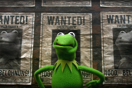 The evil Constantine stars as Kermit, who stars as a frog done wrong, in the new