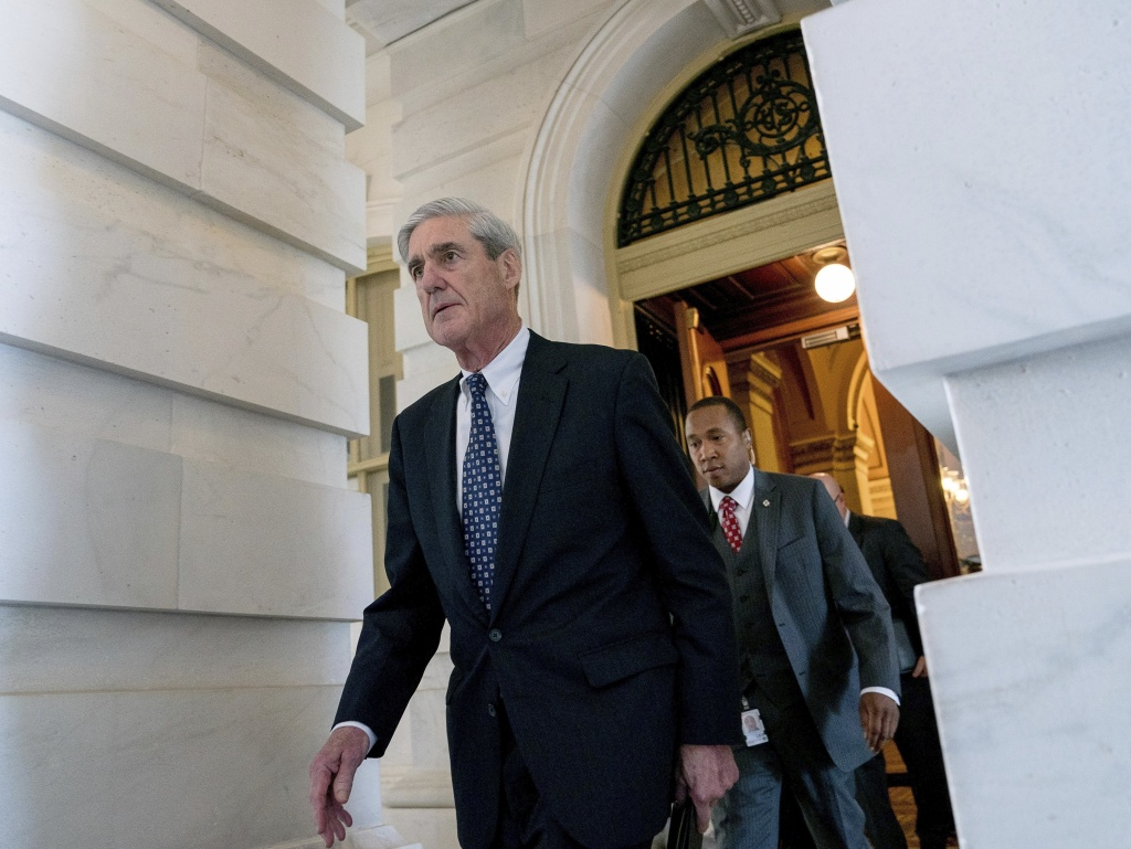 Former FBI Director Robert Mueller, the special counsel probing Russian interference in the 2016 election, departs Capitol Hill in Washington, in June 2017.