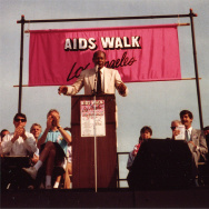 Five-term LA Mayor Tom Bradley speaks at AIDS Walk LA 1988. Credit: Mr Flikker/Creative Commons