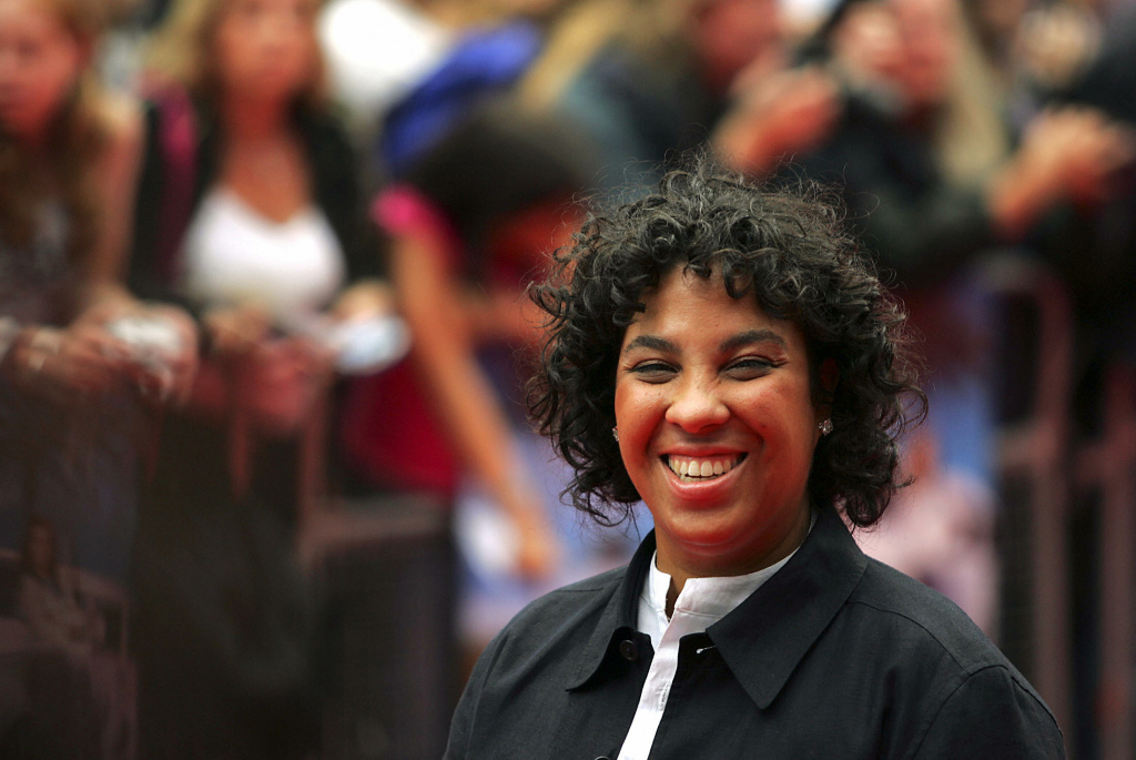 Film director Angela Robinson arrives at the UK film premiere of 'Herbie Fully Loaded' at the Vue cinema in Leicester Square in London 28 July 2005.