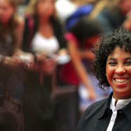 Film director Angela Robinson arrives at