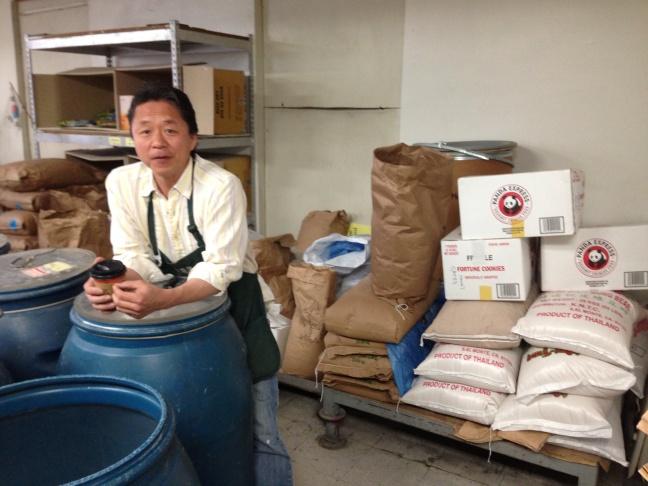 James Kim of Kim Bang Ah rice bakery in Koreatown.