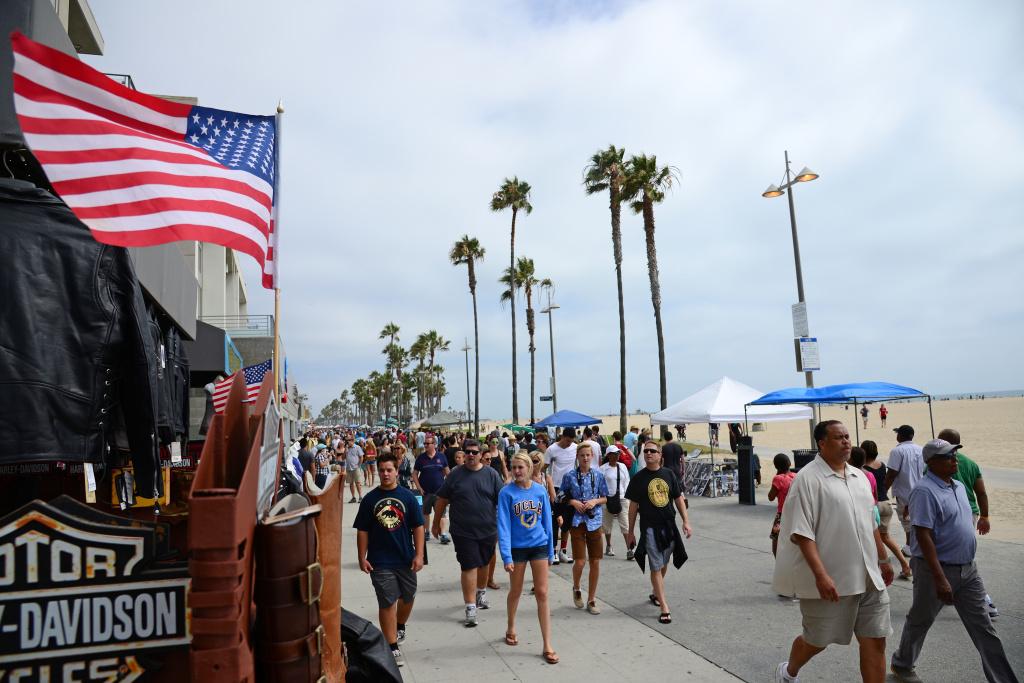 The boardwalk at Venice Beach, Calif.