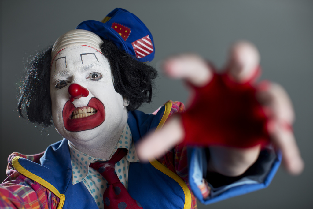 Guilford Adams runs the Los Angeles Clown Company. With the recent menacing clown sightings in Bakersfield, Adams talks about how he interacts with people to try and ease their dislike for clowns.