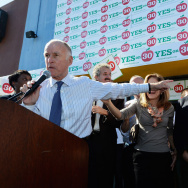 Jerry Brown Attends Rally In Support Of Proposition 30