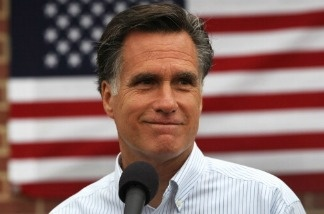 Republican presidential hopeful Mitt Romney