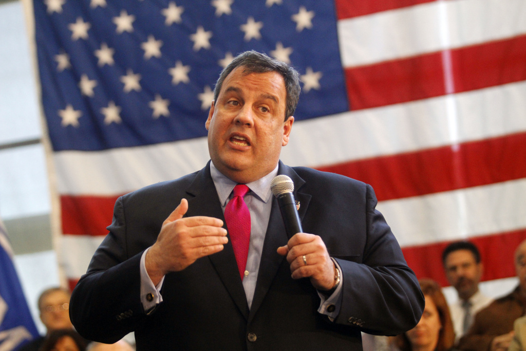 New Jersey Governor Chris Christie speaks at a Reform Agenda Town Hall meeting at the New Jersey Manufacturers Company facility in Hammonton, New Jersey. Christie is seen by some as the savior of the GOP with his more moderate viewpoints.