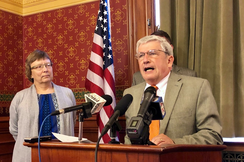 Iowa state Rep. Andy McKean, the longest-serving Republican in the Legislature, confirms his switch from the Republican to Democratic Party.