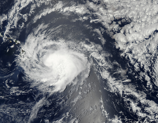 On August 9 at 23:15 UTC, the MODIS instrument aboard NASA's Aqua satellite took this visible image of Hurricane Iselle in the Eastern Pacific Ocean.