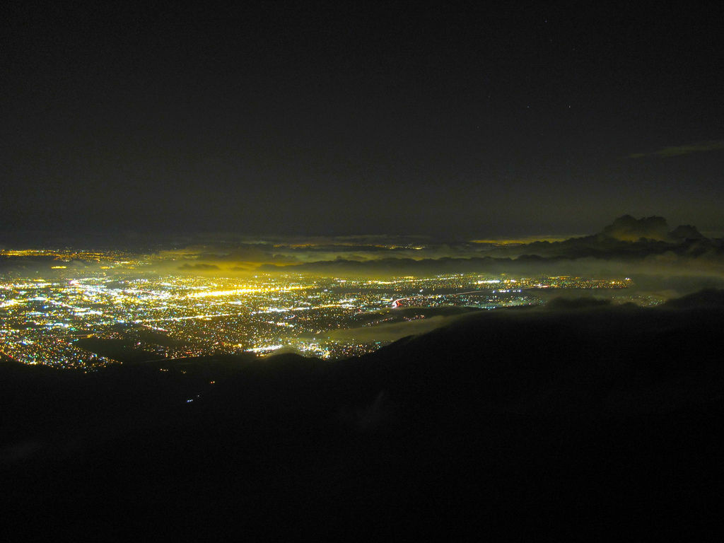 Rialto and Colton are visible in this view of the Inland Empire at night.