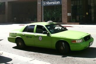 A taxi from one of the fleets contracted to operate in Los Angeles.