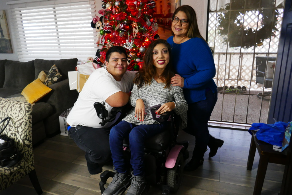 Juan, Maritza and their mother Monica Pasillas have all suffered from the bad air quality in Imperial County. Juan has asthma, Maritza experiences migraines and Monica lost her eye to an unknown airborne bacteria last year.