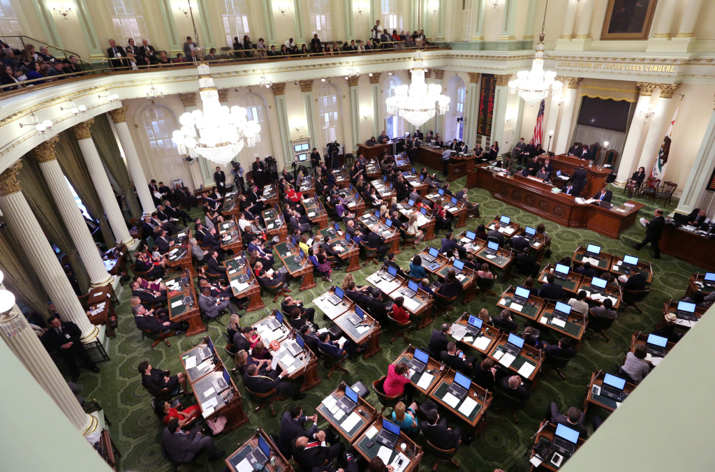 File: The California State Assembly met for an organizational session where lawmakers took the oath of office at the Capitol in Sacramento on Dec. 1, 2014.