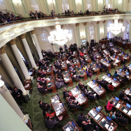 The California State Assembly met for an organizational session where lawmakers took the oath of office at the Capitol in Sacramento, Calif., on Dec.  1, 2014.