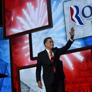 Mitt Romney waves after speaking during the 2012 Republican National Convention this week in Tampa, Florida, where he accepted the GOP nomination.