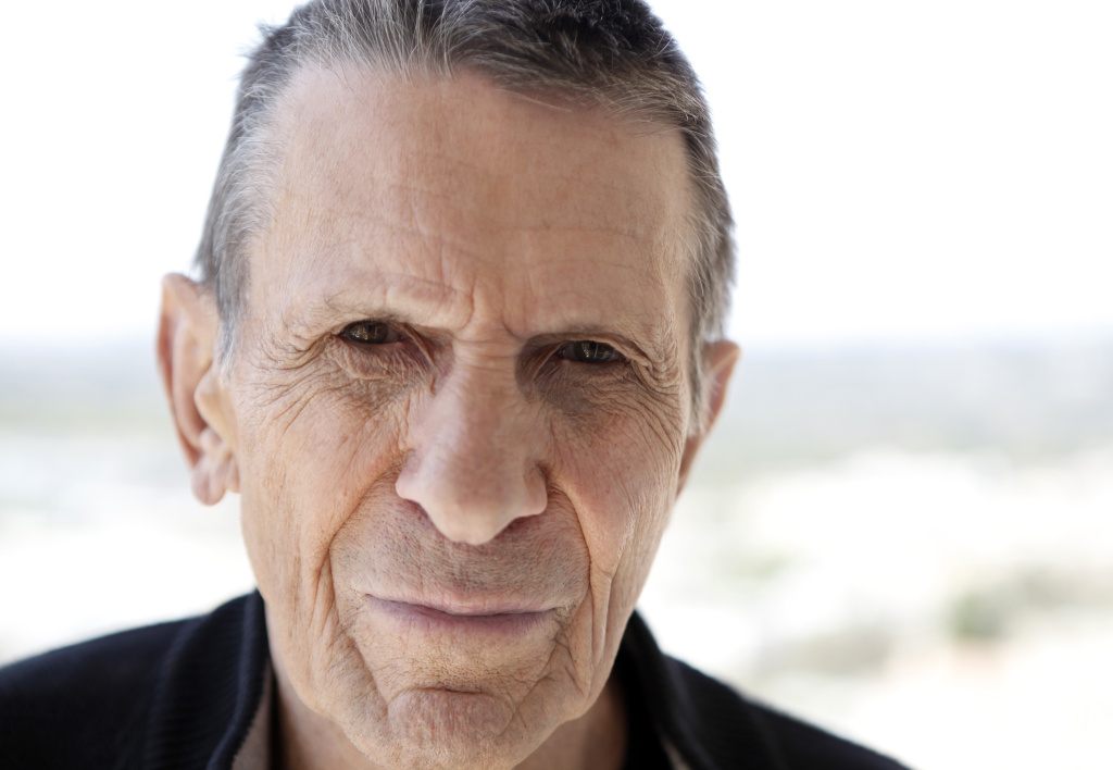 Actor Leonard Nimoy, a cast member in