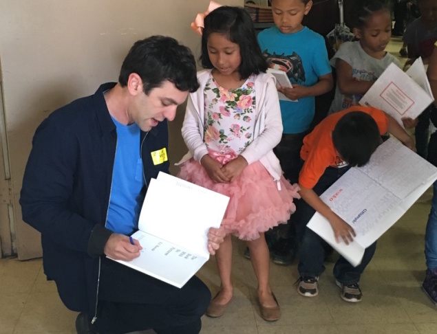 Comedian and author BJ Novak signs copies of