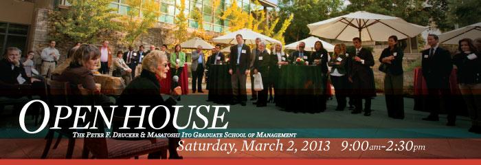 Drucker School Open House 2013