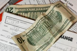 Cash contributions for a political campaign