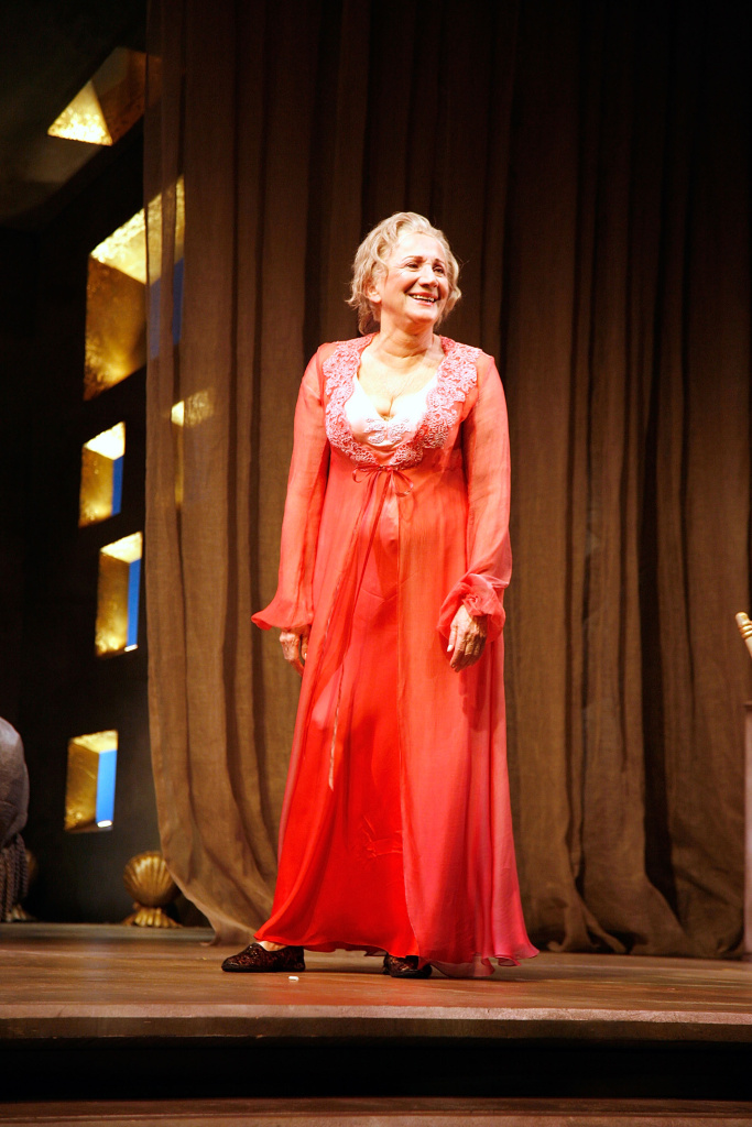Actress Olympia Dukakis in the play,