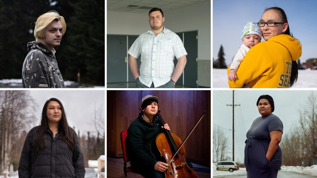 Clockwise from top left: Tristen Hunter, Ethan Harvey, Malerie McClusky, Katrina Edwards, Mateo Jaime and Alex Carter.