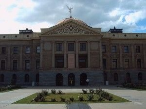 The Arizona State Capitol building in Phoenix