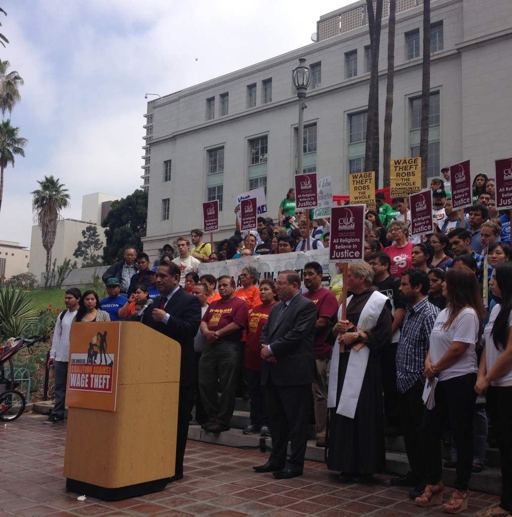 Los Angeles City Councilmen Gil Cedillo and Paul Koretz introduced a motion Tuesday that would go after employers who withhold wages from their employees.