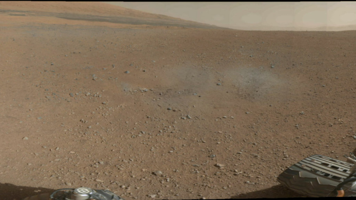 first 360-degree panorama in color of the Gale Crater Mars