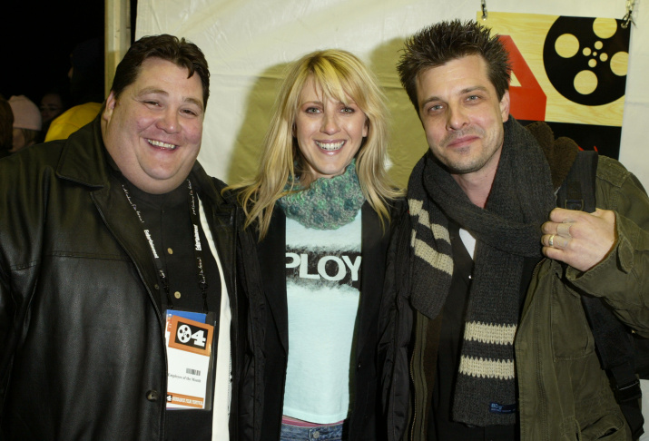 Jay Leggett, actress Andrea Bendewald and director Mitch Rouse attend the premiere of the film 'Employee of the Month' at Eccles Theatre during the 2004 Sundance Film Festival on Jan. 16, 2004 in Park City, Utah.