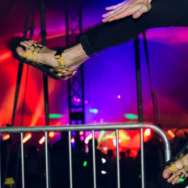"An image from Teva's ""Festival Style Guide,"" featuring sandals marketed as dance-floor ready."
