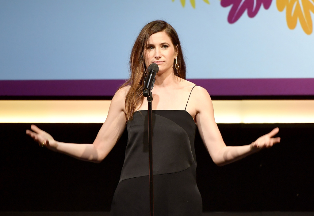 Actress Kathryn Hahn speaks onstage at Point Honors Los Angeles 2017, benefiting Point Foundation, at The Beverly Hilton Hotel in this October 7, 2017 file photo.