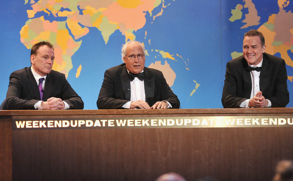 "Colin Quinn, Chevy Chase, and Norm Macdonald team up for a ""Weekend Update"" segment of the 2012 Comedy Awards which premieres this Sunday, May 6, at 9pm on Comedy Central"